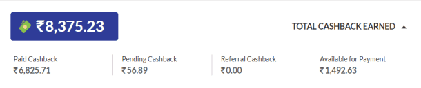 I have made over Rs.8000 as cashbacks so far